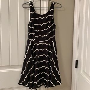 Small Black & White Dress with cute back